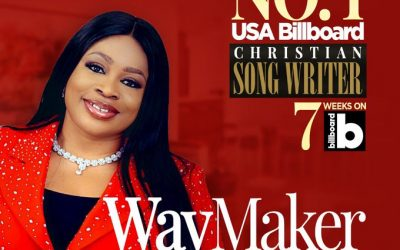 Sinach makes history. – Becomes First African To Top Billboard